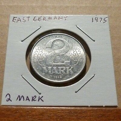 2 MARK COIN - 1975 A - East Germany
