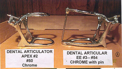 TWO NEW DENTAL LAB. CHROME ARTICULATORS  (Full Arch)