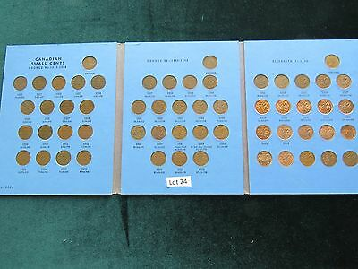 1920-1972 CANADA SMALL CENTS COMPLETE SET INCLUDING ALL KEYDATES (Lot #24)