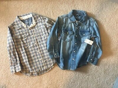 Toddler Boys Gap Button Down Shirts Size 4T NWT!