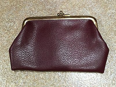 Vintage Small Brown Faux Leather Coin Purse