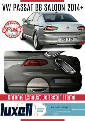 VW Passat B8 Chrome Exhaust Deflector Frame 2pcs 2015onwards Stainless Steel