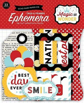 "Echo Park ""magic And Wonder"" Ephemera Frames & Tags Die Cuts Disney Scrapjack's"