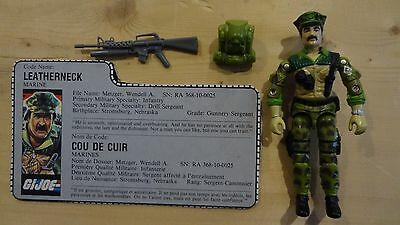1986 GI Joe Leatherneck Complete w/File Card! Vintage Action Figure CL 2