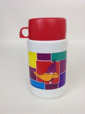Warner Bros. Looney Toons Daffy Duck Plastic Thermos 1997 w/ Red Cap