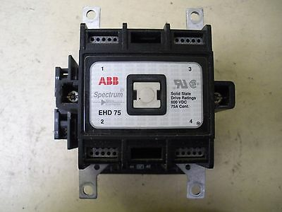 ABB Contactor Spectrum Drive EHD75, 600 VDC, 75 Amp