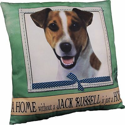 Jack Russell Terrier Soft Couch Dog Breed Throw Pillow