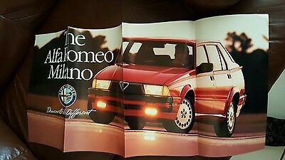 Alfa Romeo Milano Factory Showroom Poster   11 1/2 X  25 INCHES