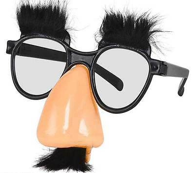 Realistic Groucho Marx Disguise Fuzzy Puss Overgrow Mustache Eyebrows Novelty