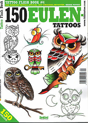 Tattoo Flash Book #4 150 Eulen Tattoos!!Top Zustand!Ungelesen!