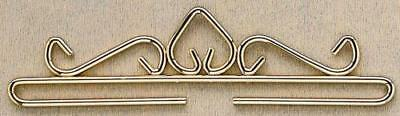 Permin Accessory - Scroll Hanger Bright Gold 25cm/1
