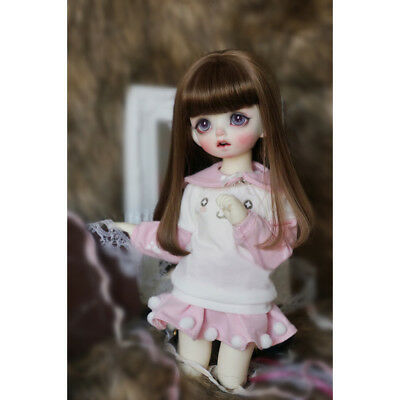 Long Sleeve Pullover & Short Skirt Outfit for 1/6 BJD SD Doll Dress Up ACCS