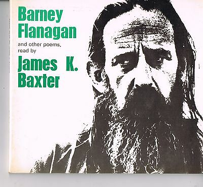 """JAMES K. BAXTER  ..  """"BARNEY FLANAGAN And other Poems""""  ..  1973 .. New Zealand"""