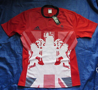 Great Britain Team GB RUGBY Sevens OLYMPIC GAMES Rio 2016 away Shirt ADIDAS /L