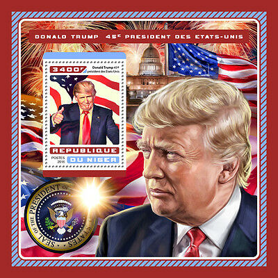 Niger 2016 MNH Donald Trump US Presidents 1v S/S Flags White House Stamps