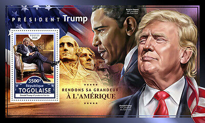Togo 2016 MNH Donald Trump US Presidents Barack Obama Rushmore 1v S/S Stamps