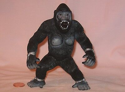 An Angry Gorilla/Ape PVC Figure With Broken Chain On Limbs