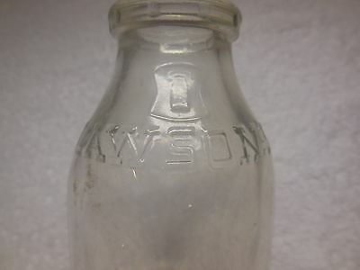 Embossed Lawson's One Pint Dairy Bottle