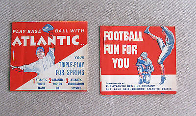 Vintage Baseball & Footbal Games Advertising for Atlantic Refining Co. - NICE!