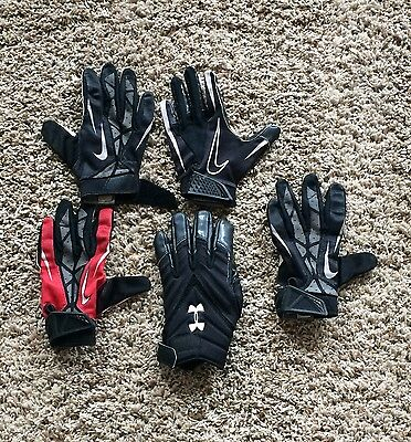 Athletic Gloves - Lot Of 5 Youth Medium And Large