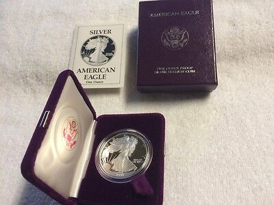 1990 S 1 ounce American Eagle Silver Proof