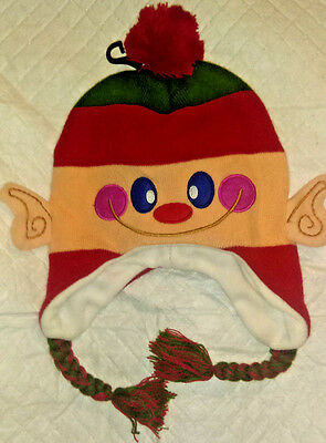 Winter Christmas Elf Hat Novelty Adult Size One Size Fits Most