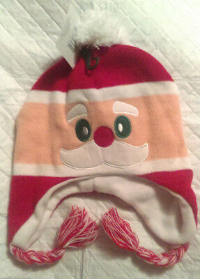 Winter Santa Claus Hat Novelty Adult Size One Size Fits Most Lined