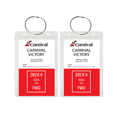 (2 PACK) - HEAVY DUTY Cruise Luggage Tag Holders, Document Holders **US SELLER**