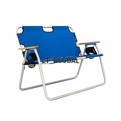 Aluminium Folding Tanning Sun Bed Lounge Pool Beach Chair Sunbed Blue