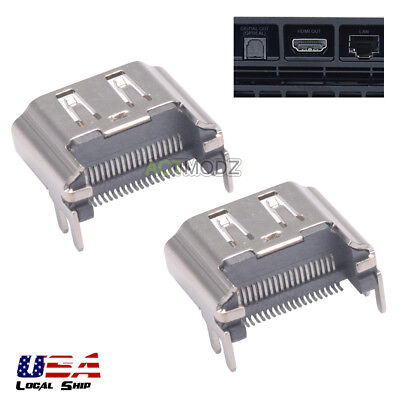 2pcs HDMI Port Connector Socket Replacement for Sony PlayStation 4 PS4 Console