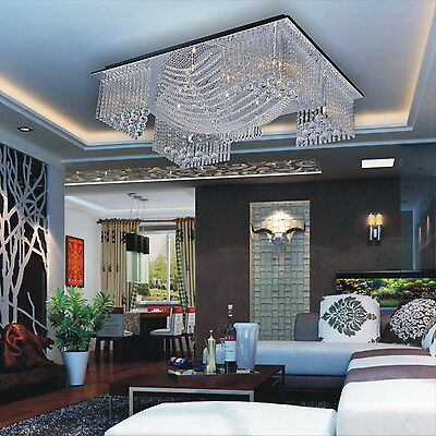 HOT US Modern Crystal Pendant Light Ceiling Lamp Chandelier HOME Lighting Amazon