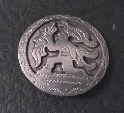 4 VINTAGE SILVER MAYAN BUTTONS  FROM GUATEMALA 900 CIRCA 1940s