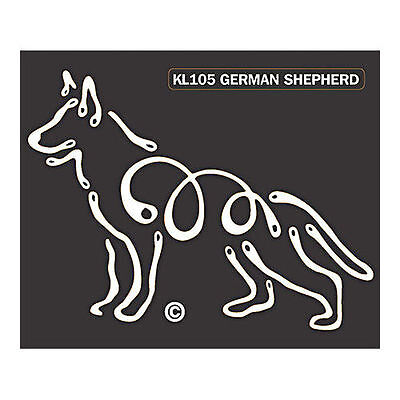 German Shepherd Dog K-Lines Dog Car Window Tattoo Decal Sticker