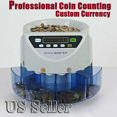 Electronic coin sorter coin counting  for Dollar US Seller New Arrival 110V