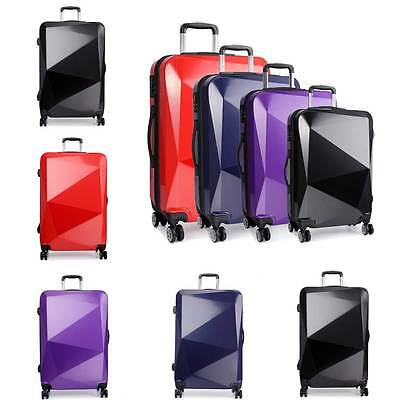 Suitcase KONO Travel Luggage Wheel Trolleys Bag Hard Shell Cabin Diamond