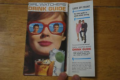 Girl Watchers' Drink Guide 1968 Playboy Magazine Insert - Very Good