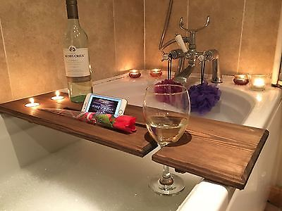Wooden Bath Board Bath Bridge Bath Caddy Bath Rack Bathroom Wine Holder. Shelf