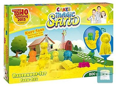 Craze 53158 - Magic Sand: La Fattoria, Ca. 800 G Di Sabbia Magica, Incl. Acce...