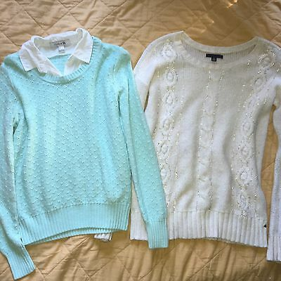 Lot Of 2 Sweaters Forever 21 And American Eagle Size Small