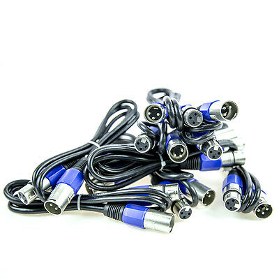 10  3 Pin 5' ft DMX Pro Stage Lighting Light Cables - Data Cables