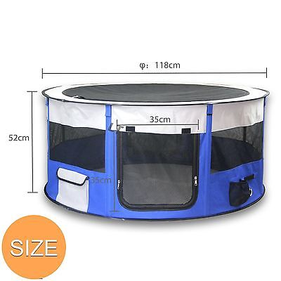 Pet Soft Playpen Dog Cat Puppy Play Large Round Crate Cage Tent Portable