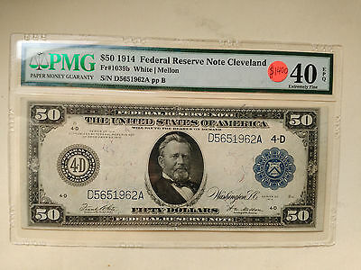 FR 1039B 1914 50 Federal Reserve note- Cleveland