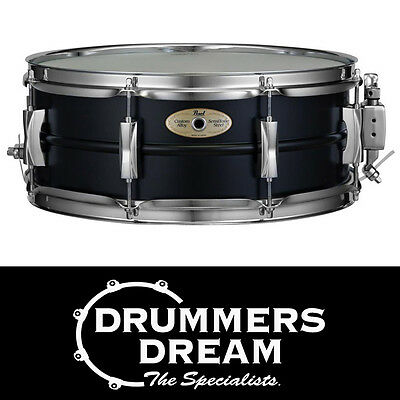 """Pearl SensiTone 14""""x 5.5"""" Limited Edition Black Steel Snare Drum RRP $319.00"""
