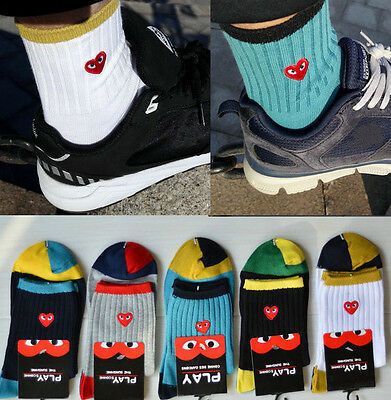 2017 Fashion New CDG COMME DES GARCONS PLAY Men and Women's SOCK Gifts