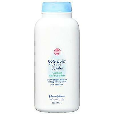 Johnson's Baby Powder With Aloe Vera & Vitamin E For Soft Skin, 4 Oz. New