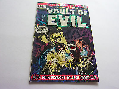 Vault Of Evil Comic #22  October 1975  Smooth Copy  Very Fine-