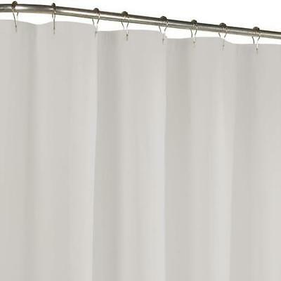 Maytex Fabric Shower Curtain Liner White Quick Machine Washable US SELLER New