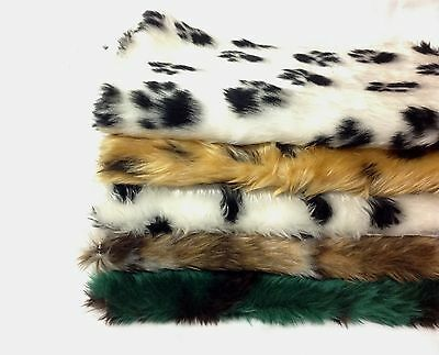 Animal Fun Faux Fur Fabric Material - Soft 20mm Pile Sold by Vary Length