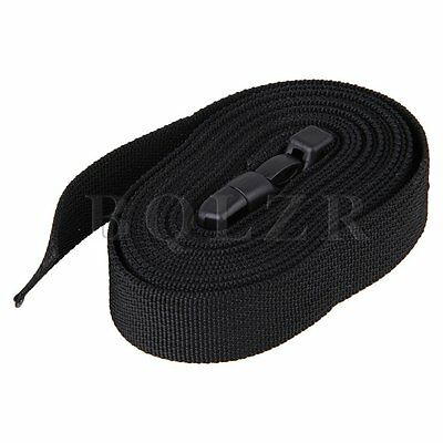 Black Tie Down Strap Belt Packing Cargo Suitcase Luggage with POM Buckle 100cm