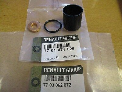 Genuine Renault Master Injector Seal kit & Copper Washer 7701474025 & 7703062072
